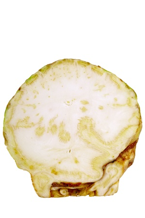 focus stacking: Cross-section of selleri isolated on white background, studio shoot, DFF image, Adobe RGB