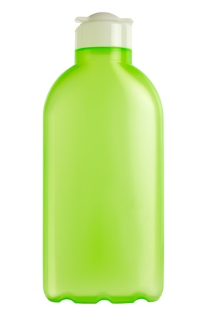 focus stacking: Close up of a plastic cosmetics bottle isolated on white, Adobe RGB
