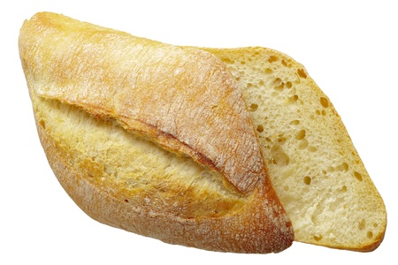 dff image: Close up of a bread roll isolated on white, Adobe RGB, DFF image Stock Photo