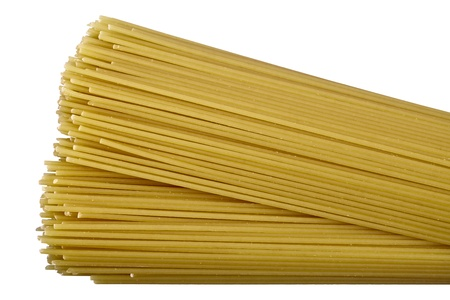 focus stacking: Raw pasta isolated on white background. DFF image, Stock Photo