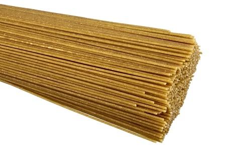 dff image: Raw bio whole grain pasta isolated on white background  DFF image,