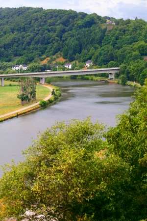 saar: River Saar by Saarburg, Rheinland-Pfalz, Germany, summer