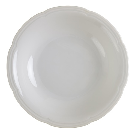 Close up on a white china plate, 2 images stitched  Stock Photo - 15127684