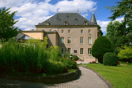 View of a old convent in city Schengen, Luxembourg, summer Stock Photo - 15221525