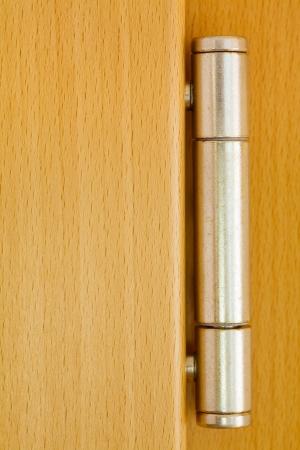 Close up of a metal door hinge Standard-Bild