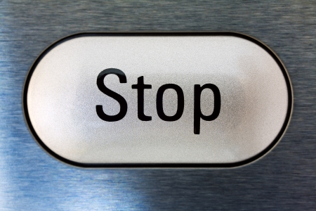 Close up of a stop  button from modern microwave oven, Hdr image photo