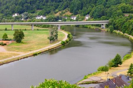 saar: River Saar by Saarburg, Rheinland-Pfalz, Germany, summer
