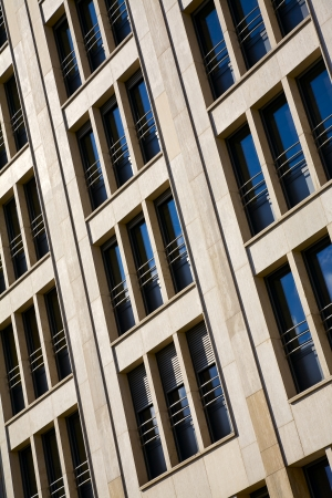 View of modern stone facade in city Luxembourg   Luxembourg, summer photo