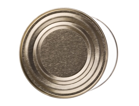 sardine can: Close up of a can isolated on white Stock Photo