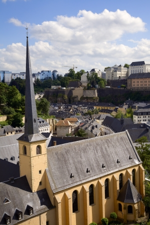 View of old monastery in city Luxembourg - Luxembourg, summer Stock Photo - 16130170