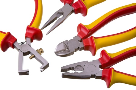 rustproof: Close up of a modern nippers, isolated on white background