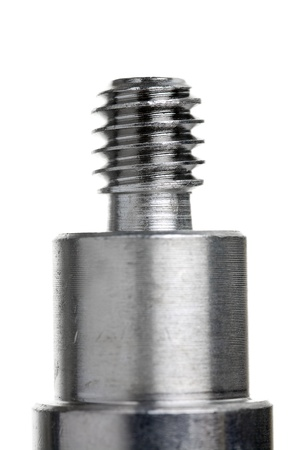 rustproof: Close up of a screw  pin isolated on white background Stock Photo