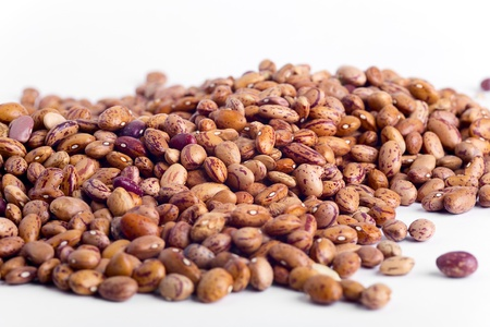 Closeup of red beans isolated on white Stock Photo - 16443642