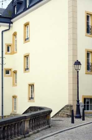 View of old street, city Luxembourg /  Luxembourg, summer Stock Photo - 16443638