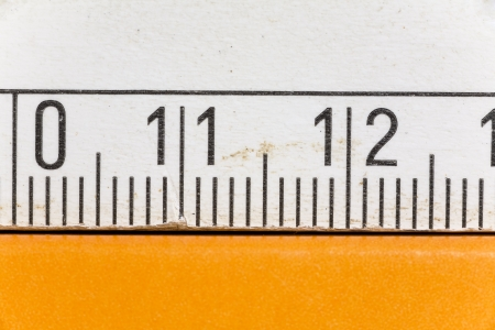 Close up of a metric measure, detail shot photo