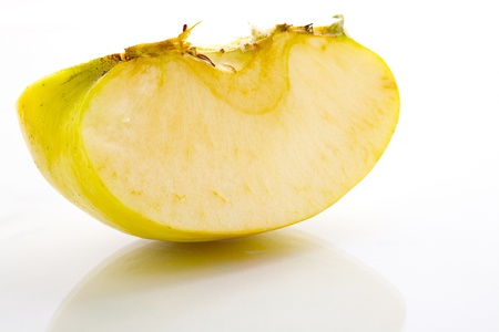 Close up of a quarter of apple fruit, isolated on white background Stock Photo - 16809374
