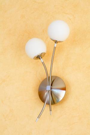 Cclose up of modern wall lamp Stock Photo - 17070580