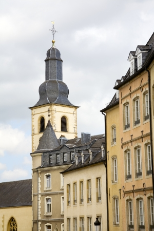 View of old church in city Luxembourg - Luxembourg, summer Stock Photo - 17325831