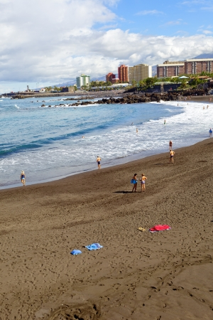 View of Playa de Jardin in Puerto de la Cruz, Tenerife  Spain photo