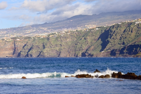 View from Playa de Martianez in Puerto de la Cruz, Tenerife  Spain, december 2012  photo