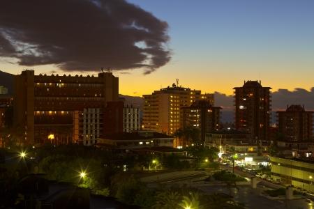 View of the city Puerto de la Cruz, Tenerife  Spain, Dezember 2012