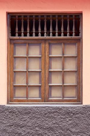 Old historic window in Puerto de la Cruz, Tenerife, Canary Islands, Spain
