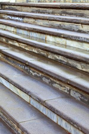 concrete steps: Concrete steps in Puerto de la Cruz, Tenerife, Canary Islands, Spain.
