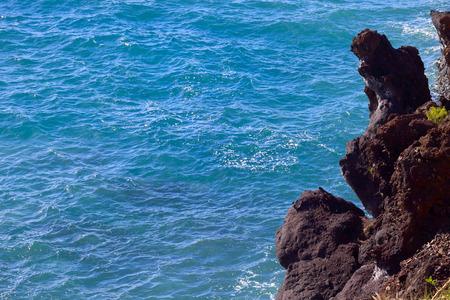 adeje: View of Atlantic Ocean in city Costa Adeje, Tenerife, Canary Islands, Spain.
