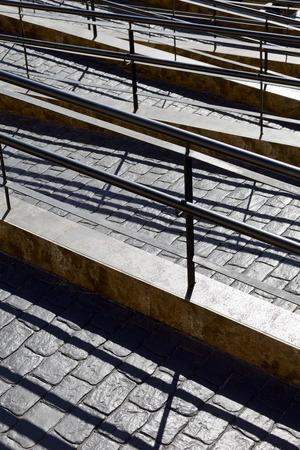adeje: Handrailing on  the promenade in Costa Adeje, Tenerife, Canary Islands, Spain.