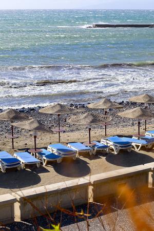 adeje: View of playa Fanabe in city Costa Adeje, Tenerife, Canary Islands, Spain.