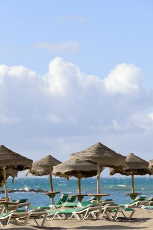 adeje: View of Playa la Pinta in city Costa Adeje, Tenerife, Canary Islands, Spain.