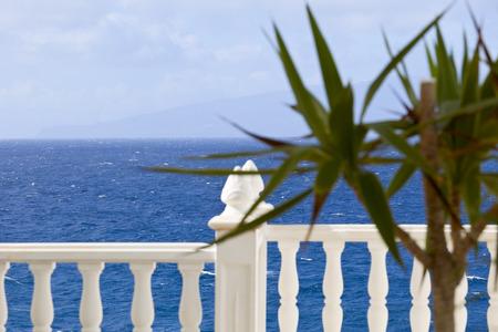 adeje: View of Atlantic jn small city Costa Adeje, Canatry Islands, Spain. Stock Photo