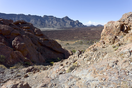 nacional: Rock formations in Parque Nacional del Teide, Tenerife, Canary Islands, Spain.