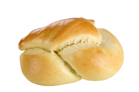 Bread roll isolated on white background. Stock Photo