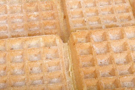 close up food: Close up of waffels as a food background, focus fusion. Stock Photo