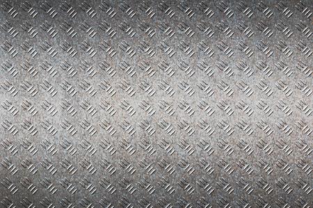 diamondplate: seamless black metal background. Stock Photo