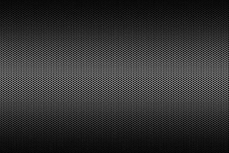 speaker grille pattern: black and silver metallic mesh background texture.