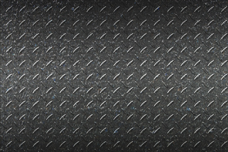 diamondplate: seamless black metal background. Stock Photo