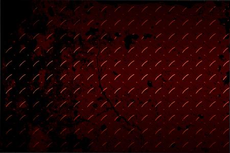 diamondplate: seamless black and red metal background. Stock Photo