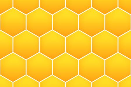 web デザインの黄色のハニカム パターン背景。