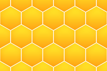 at yellow: yellow honeycomb pattern background for web design. Stock Photo