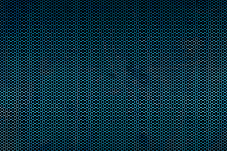 black and blue metallic mesh fray  background texture.