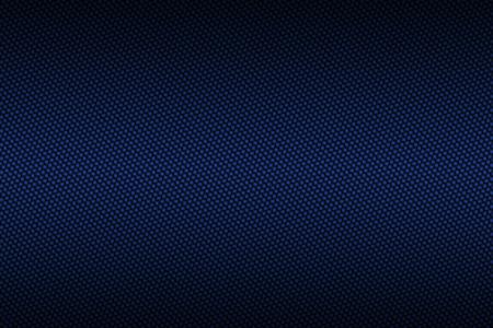 黒のグラデーション カラー、背景テクスチャと青い炭素繊維。