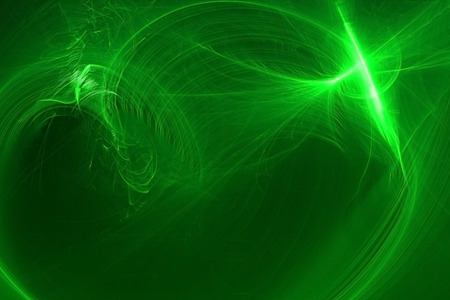 circular wave: green circular wave glow. lighting effect abstract background for your business. Stock Photo