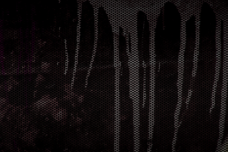metal sheet: black and red metallic mesh fray  background texture.
