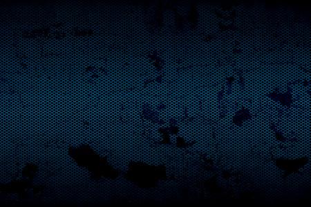 zwart en blauw metallic mesh fray als achtergrond.