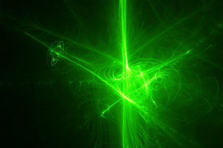 lighting effect: green glow wave. lighting effect abstract background for your business.