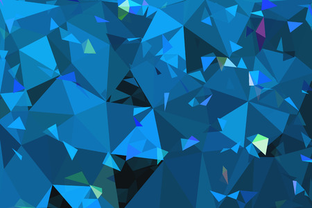 diamond shaped: blue geometric rumpled triangular low poly origami style gradient illustration graphic background.