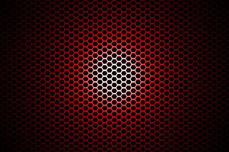 red metallic: spotlight on red metallic mesh background.