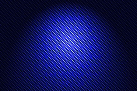 spotlight on blue carbon fiber background.
